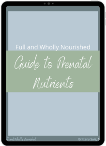 Prenatal Vitamins Nutrients Supplements Full and Wholly Nourished Infertility